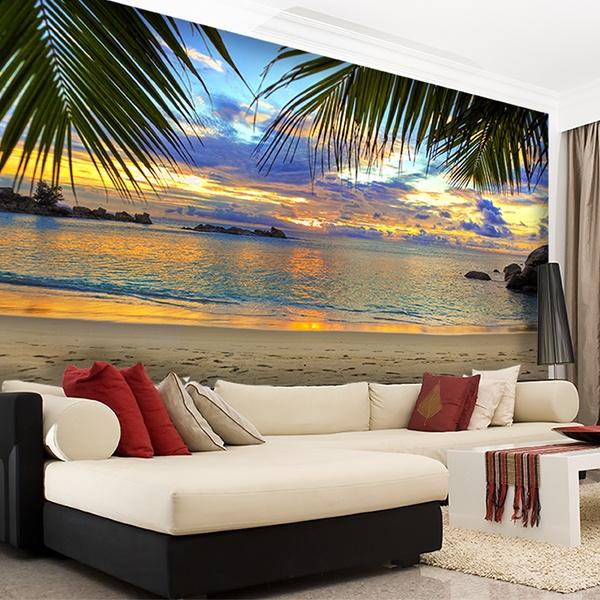 Papier peint vinyle: Atardecer playa