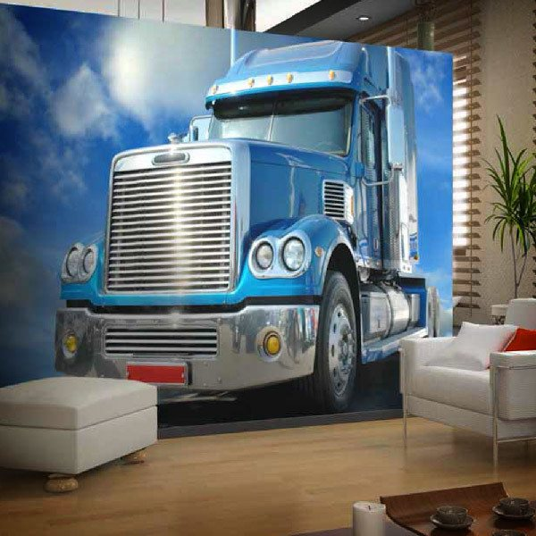 Papier peint vinyle: Camion bleu