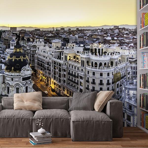 Papier peint vinyle: Madrid Gran Via