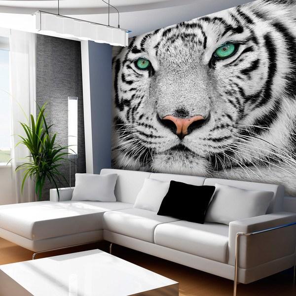 Papier peint vinyle: White Tiger