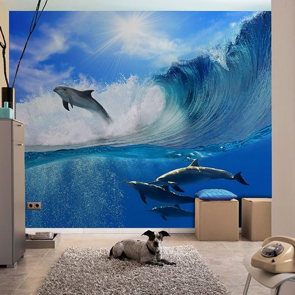 Papier peint vinyle: Delfines