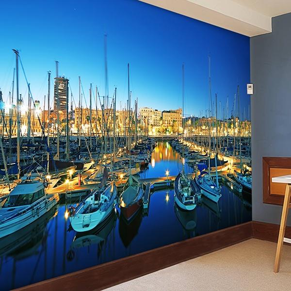 Papier peint vinyle: Puerto Barcelone