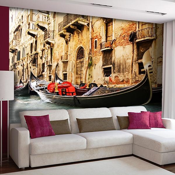 Papier peint vinyle: Gondole de Venise