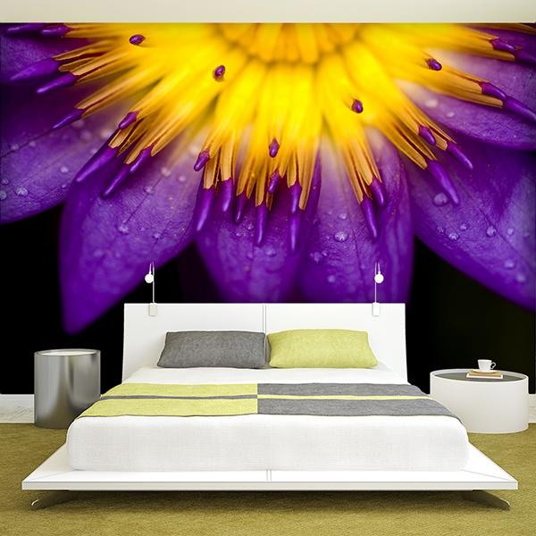 Papier peint vinyle: purple Lotus