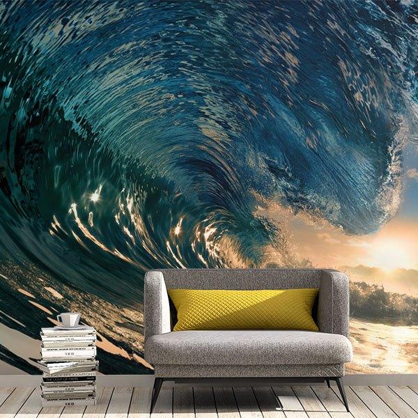 Papier peint vinyle: En vertu de la vague
