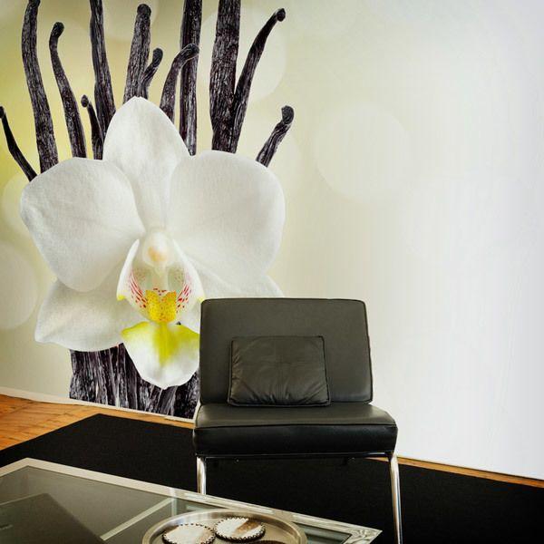 Papier peint vinyle: Orchidée blanche