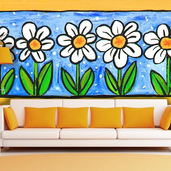 Papier peint vinyle: Fleurs