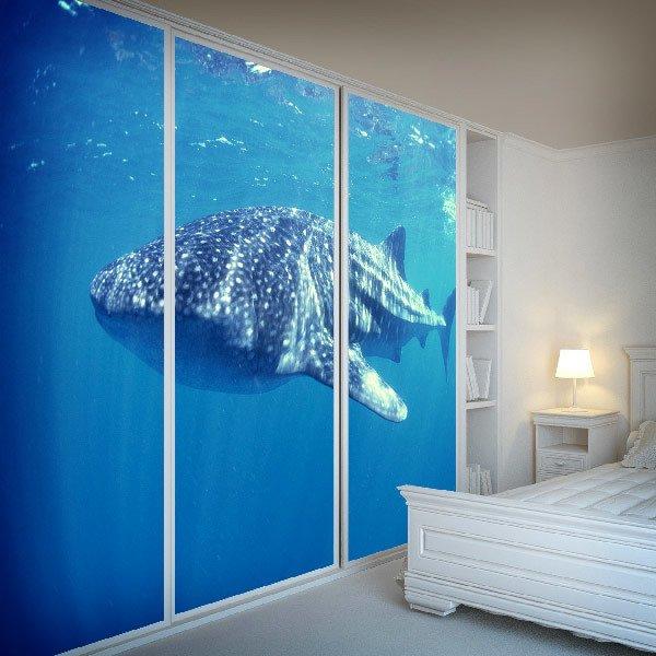 Papier peint vinyle: requin baleine