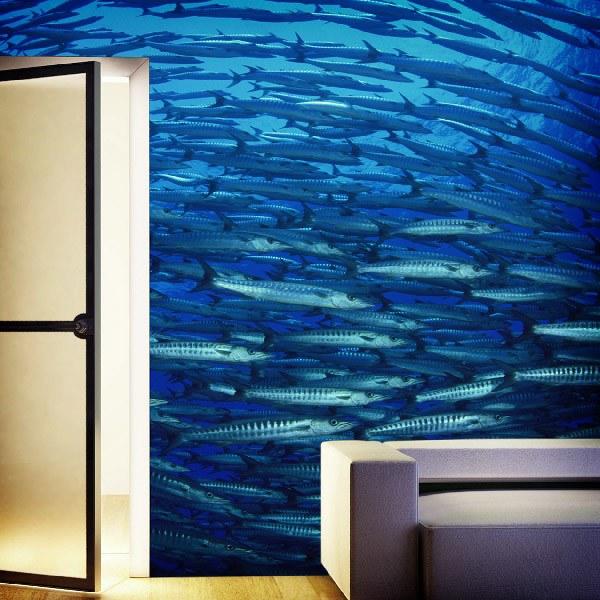 Papier peint vinyle: Banc de poissons