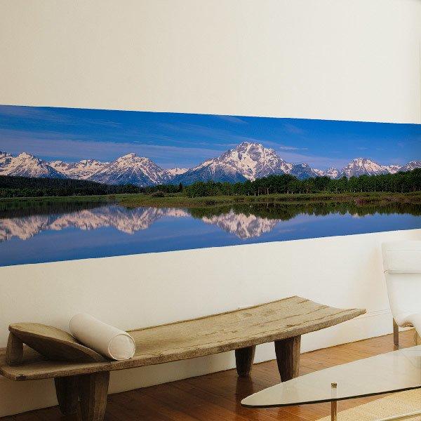 Papier peint vinyle: Le lac de montagne
