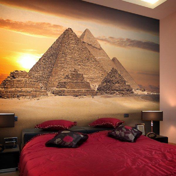 Papier peint vinyle: Piramides 3