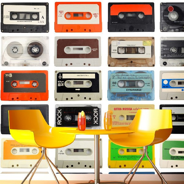 Papier peint vinyle: cassette