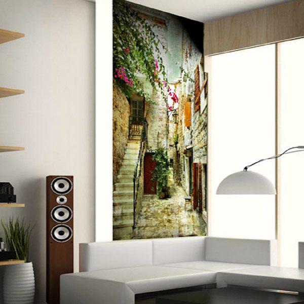 Papier peint vinyle: Petit village