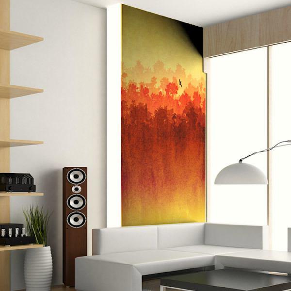 Papier peint vinyle: Aquarelle paysage