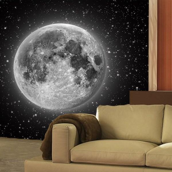 Papier peint vinyle: Lune