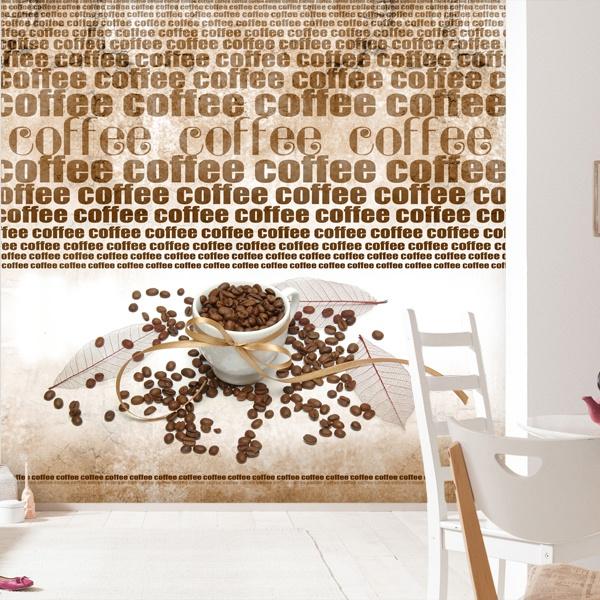 Papier peint vinyle: café