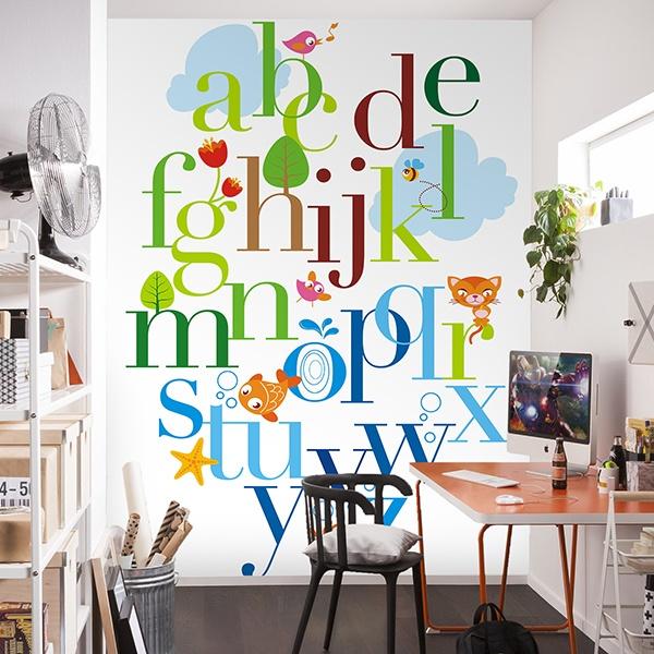 Papier peint vinyle: Alphabet animaux