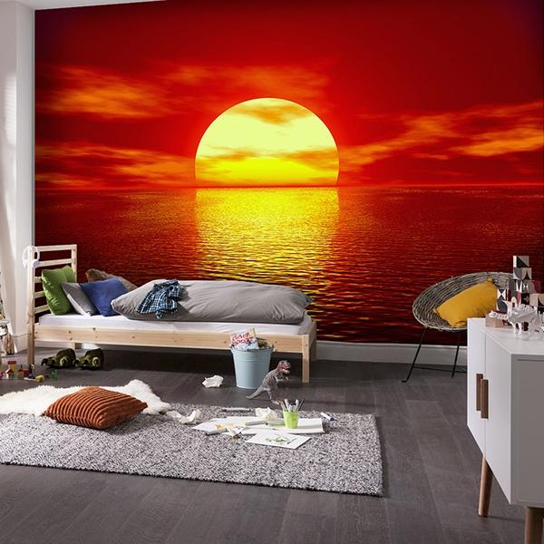 Papier peint vinyle: Coucher de soleil