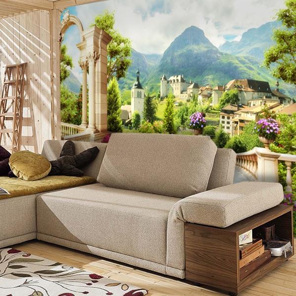 papier peint vinyle montagne parador. Black Bedroom Furniture Sets. Home Design Ideas