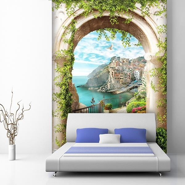 Papier peint vinyle: Arche de village méditerranéen