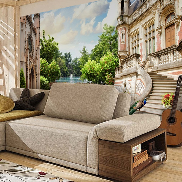 papier peint vinyle palais jardin. Black Bedroom Furniture Sets. Home Design Ideas