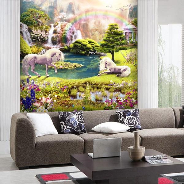 Papier peint vinyle jardin fantastique for Jardin fantastique