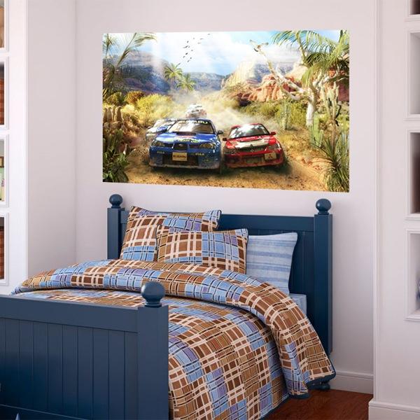 Papier peint vinyle: Papeir Peint Vinyle rallye automobile