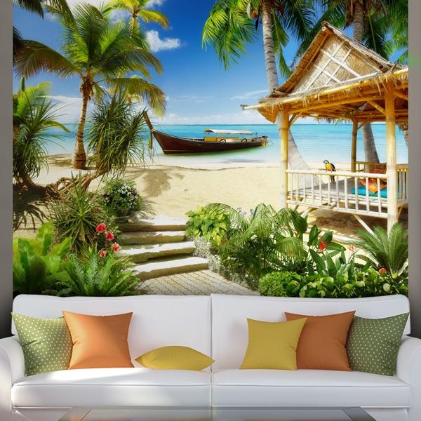 Papier peint vinyle: Caraïbes plage