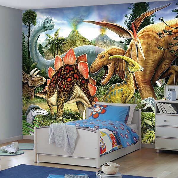 stickers muraux dinosaure. Black Bedroom Furniture Sets. Home Design Ideas