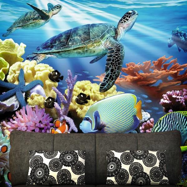 Papier peint vinyle: Fond de la mer