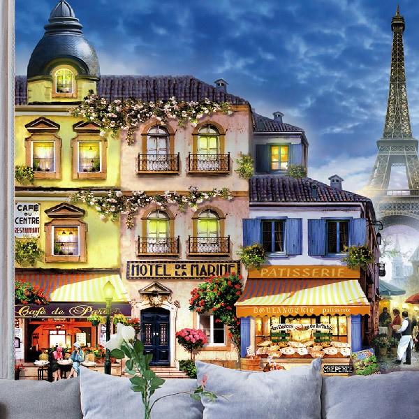 Papier peint vinyle: les rues de Paris