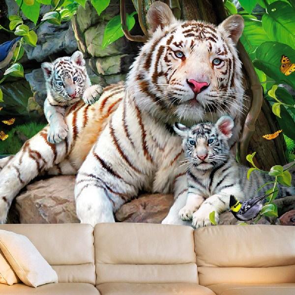 Papier peint vinyle: Tigres albinos