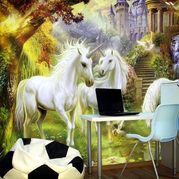 Papier peint vinyle: Licornes