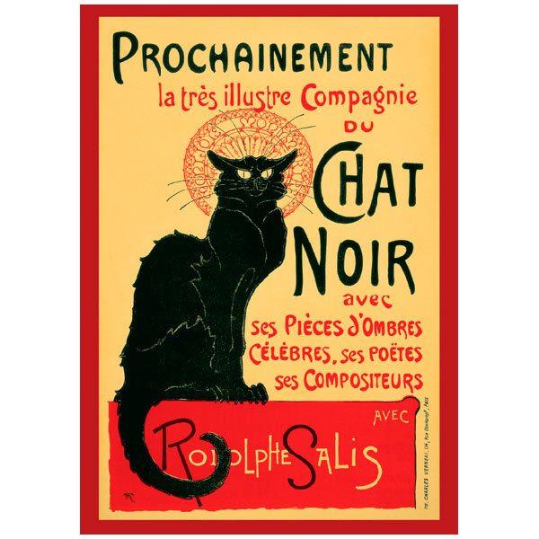 Papier peint vinyle: Chat Noir