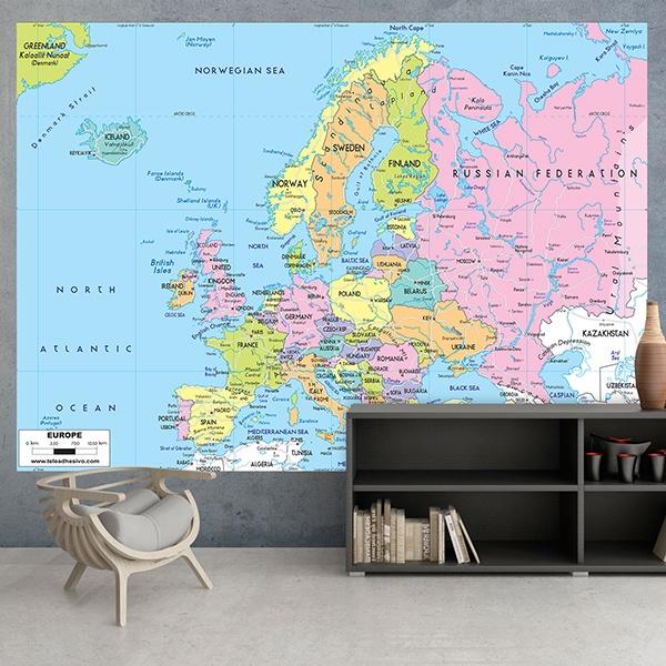 Papier peint vinyle: Europe Politique 1
