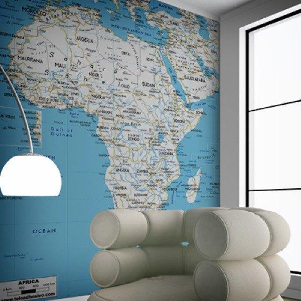 Papier peint vinyle: Afrique Routes