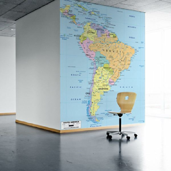 Papier peint vinyle: Amérique du Sud Politique 1