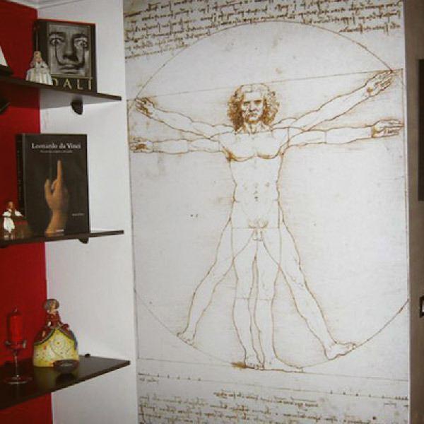 Papier peint vinyle: Vitruve homme_Da Vinci