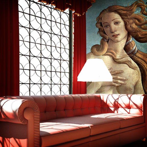 Papier peint vinyle: Naissance de Vénus (détails)_Botticelli
