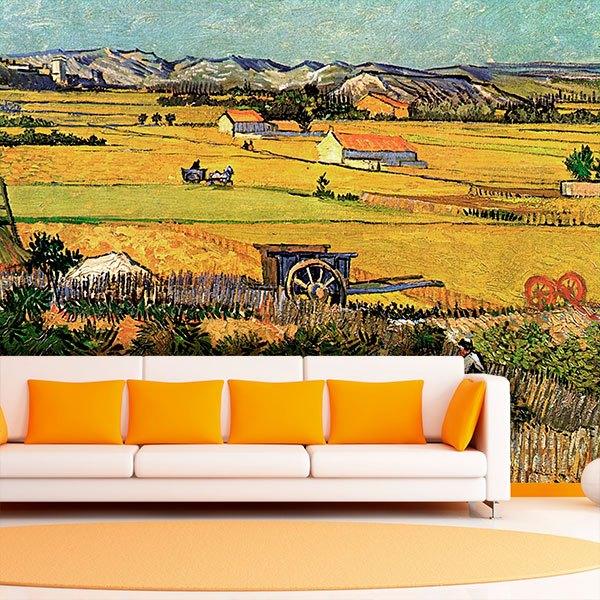 Papier peint vinyle: Récolte à la Crau_Van Gogh