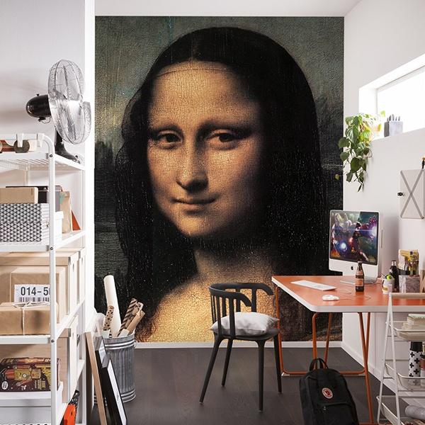 Papier peint vinyle: Mona Lisa (détail)_Da Vinci