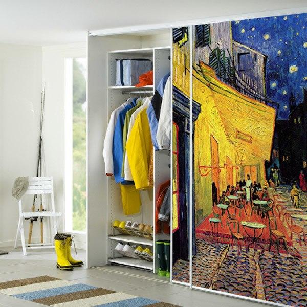 Papier peint vinyle: La terrasse de café à Arles par nuit_Van Gogh