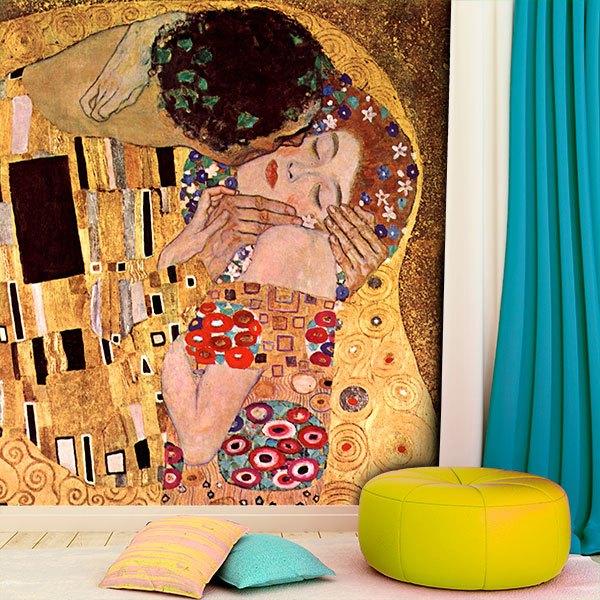 Papier peint vinyle: Le baiser_Klimt