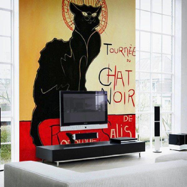Papier peint vinyle: Tournèe du chat noir_Lautrec