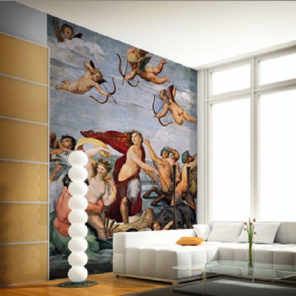 Papier peint vinyle: Triomphe de Galatée2_Raphael