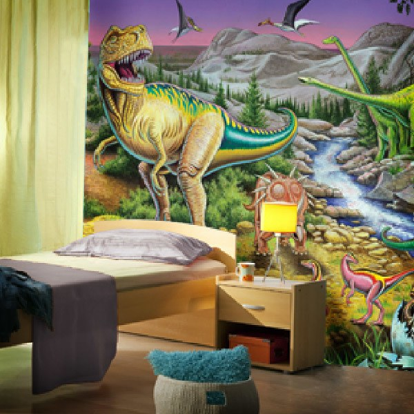 Papier peint vinyle: Jurassic Valley