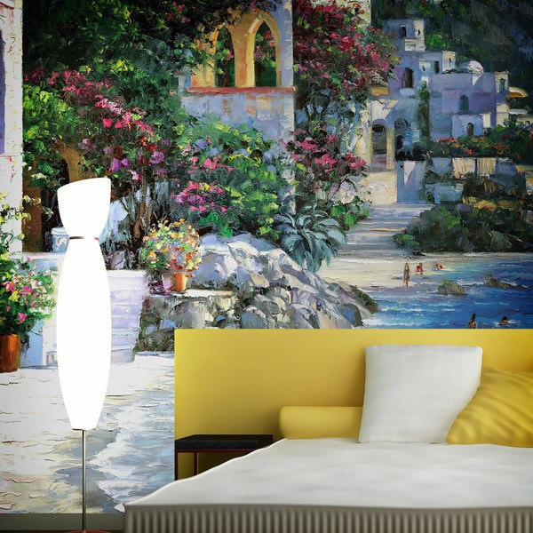 Papier peint vinyle: Capri Del Mar