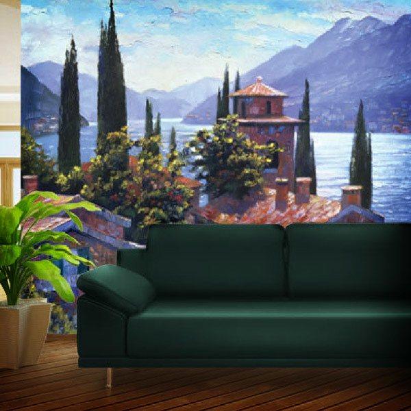 Papier peint vinyle: Lake Lugano (Howard Beherens)