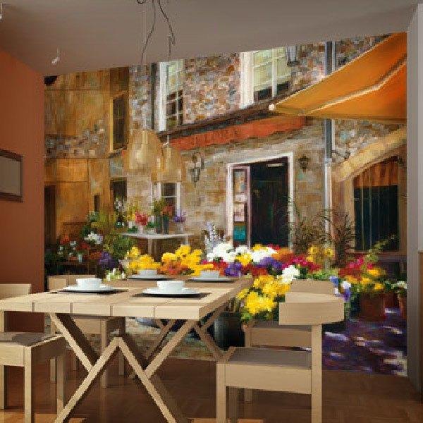 Papier peint vinyle: La boutique de fleurs (Jan McLaughlin)