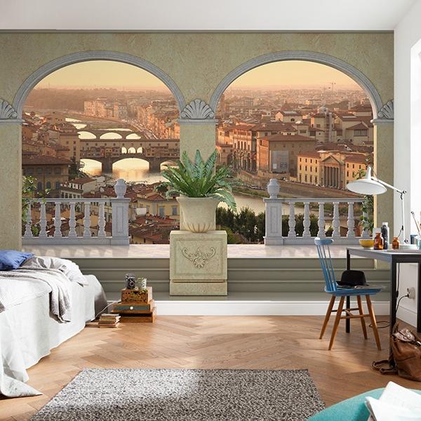 Papier peint vinyle: Vue de Florence